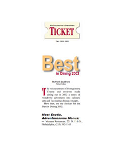 Ticket Award