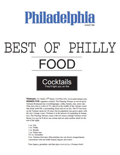 Philadelphia Magazine Award